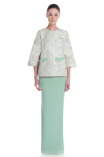 Angel Kurung in Mint Green