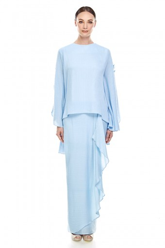 Bhunga Kurung in Baby Blue