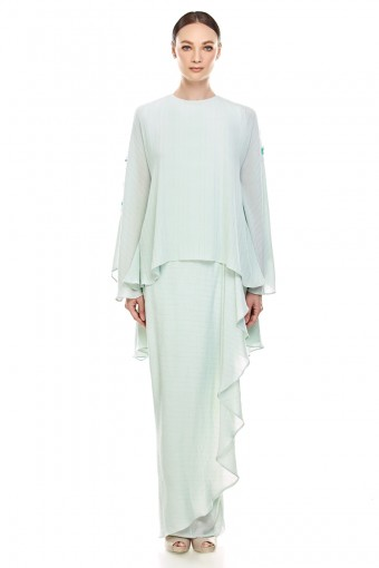 Bhunga Kurung in Mint Green