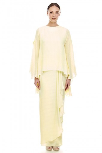 Bhunga Kurung Soft Yellow