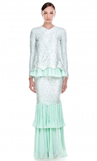 Carmelita Kurung in Mint Green