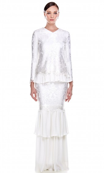 Carmelita Kurung in White