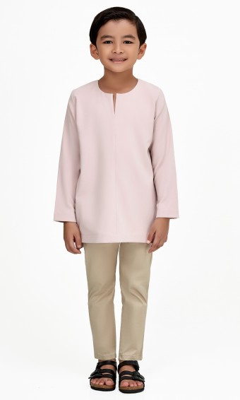 Demir Kurta Kids in Dusty Pink