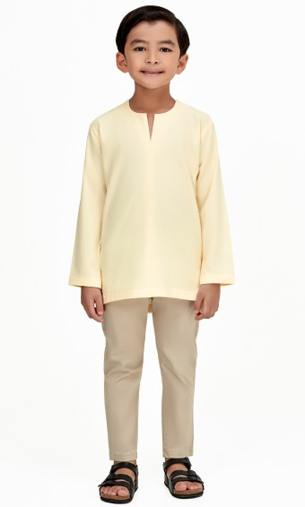 Demir Kurta Kids in Yellow