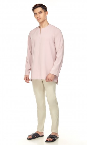 Demir Kurta in Dusty Pink