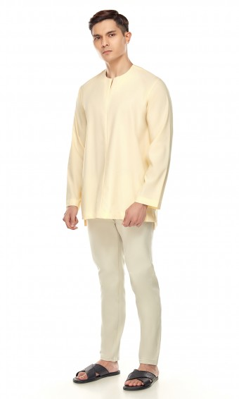Demir Kurta in Yellow