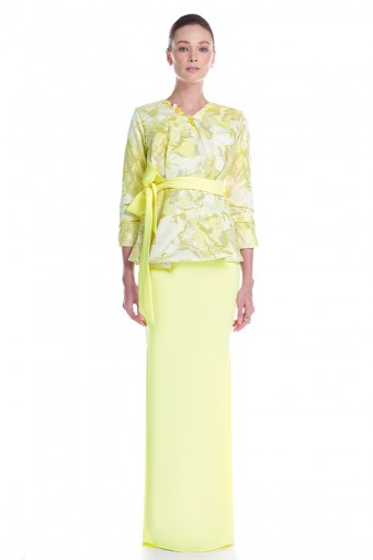 Efilda Kurung in Yellow