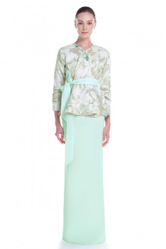 Efilda  Kurung in Mint Green