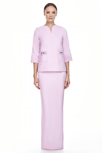 Edina Kurung in Pastel Purple