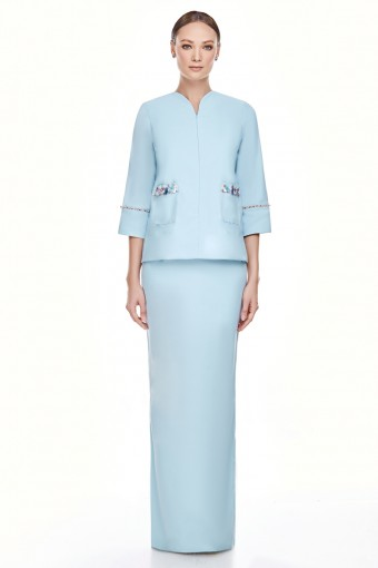 Edina Kurung in Sky Blue