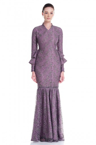 Elaine Kurung in Purple
