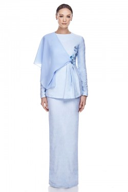 Elara Kurung in Baby Blue