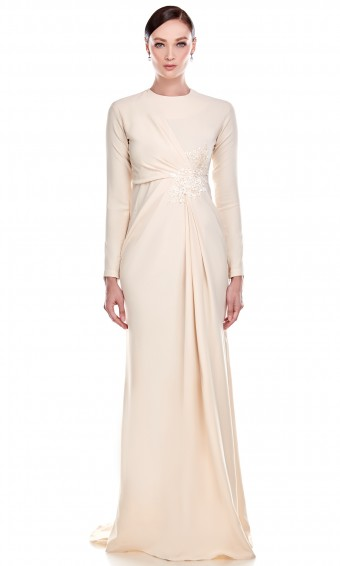 Erminda Dress in Beige