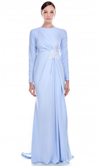 Erminda Dress in Cobalt Blue