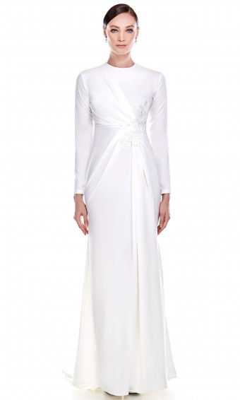 Erminda Dress in White
