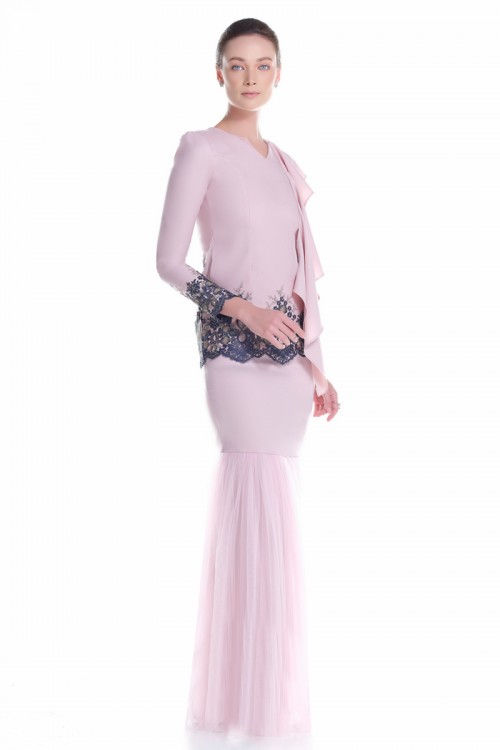 Fermin Kurung in Dusty Pink
