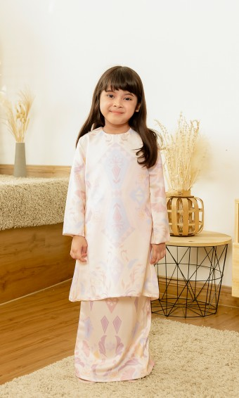 Frechia Kurung Kids in Cream