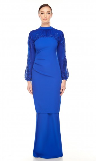 Hailie Kurung in Electric Blue