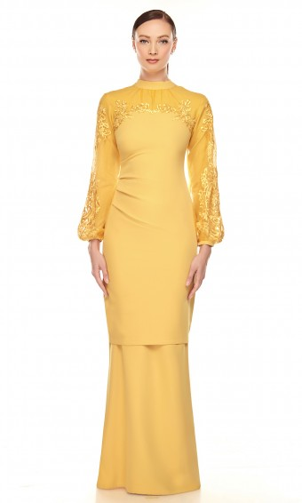 Hailie Kurung in Royale Yellow
