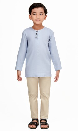 Emiir Kurta Kids in Dusty Blue