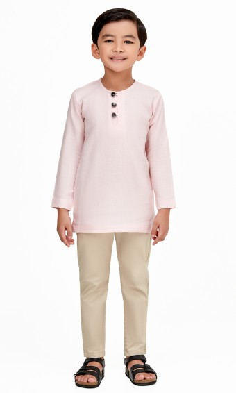 Emiir Kurta Kids in Light Pink