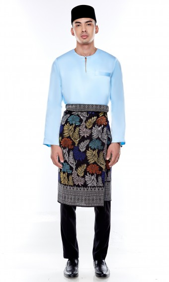 Jebat Kurta Top in Sky Blue