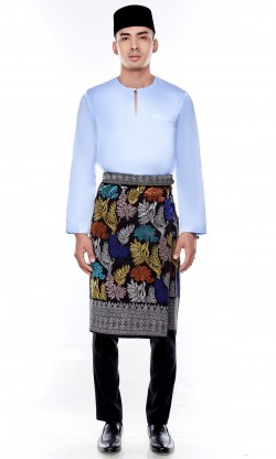 Jebat Kurta Top in Baby Blue