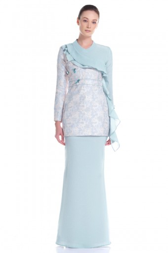 Jayda Kurung in Mint Green