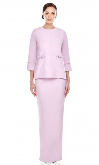Adina Kurung in Pastel Purple