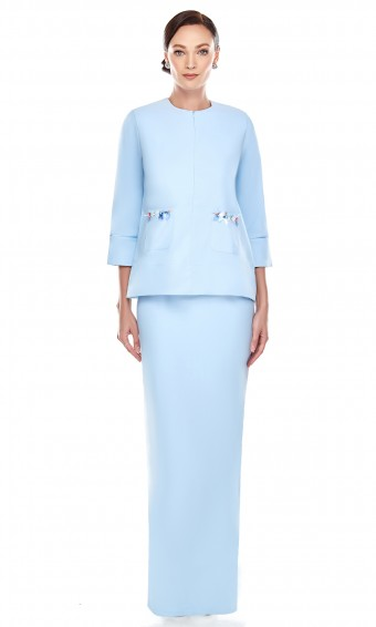 Adina Kurung in Sky Blue