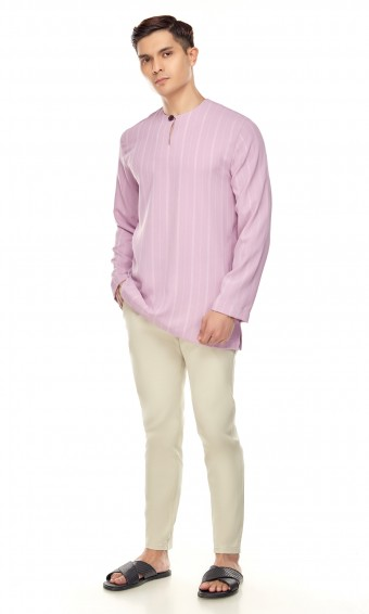 Murat Kurta in Mauve Purple