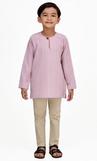 Murat Kurta Kids in Mauve Purple