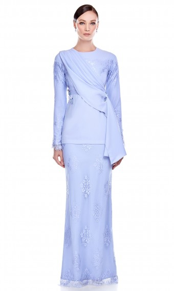 Maia Kurung in Baby Blue