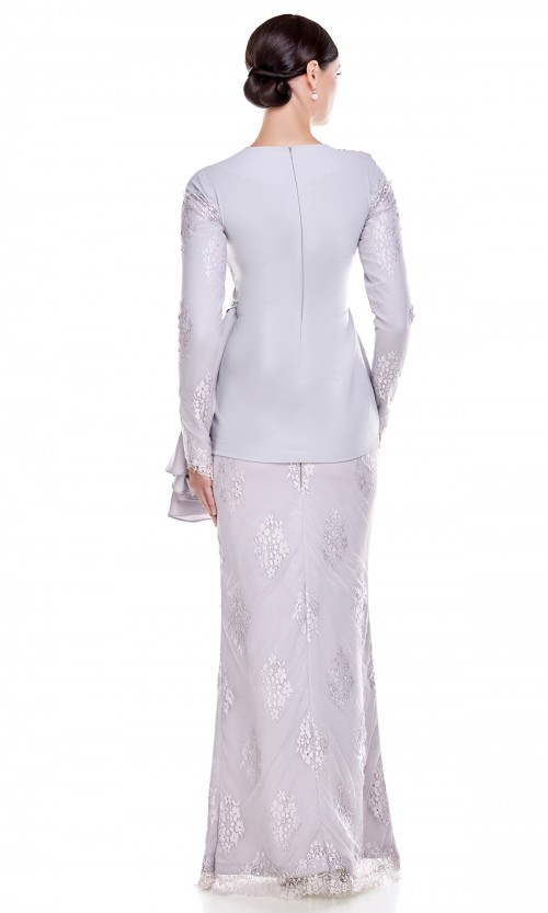 Maia Kurung in Light Grey