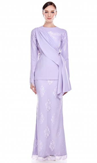 Maia Kurung in Soft Purple