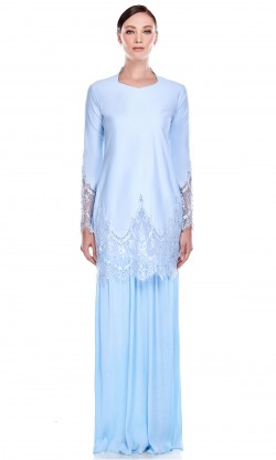 Mawar Kurung in Blue