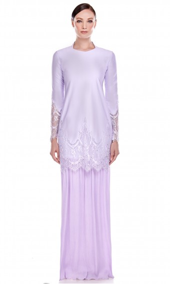 Mawar Kurung in Purple