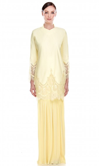 Mawar Kurung in Yellow