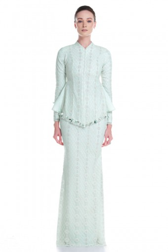 Mireya Kurung in Mint Green