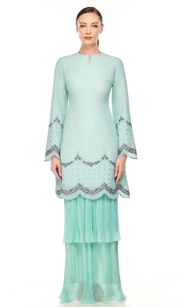 Nara Kurung in Dusty Green