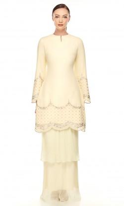 Nara Kurung in Dusty Yellow