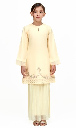 Nara Kurung Kids in Dusty Yellow