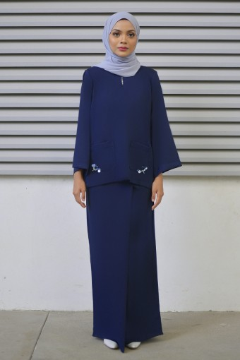 Laurynn Kurung in Navy  Blue