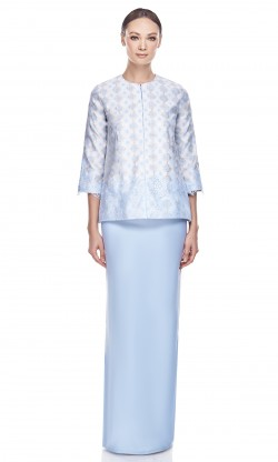 Orked Kurung in Baby Blue