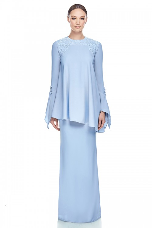 Qaseh Kurung in Baby Blue