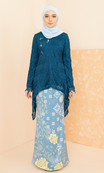 Rika Kurung in Teal Blue