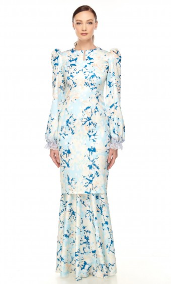Roisin Kurung in Bluebell Blue