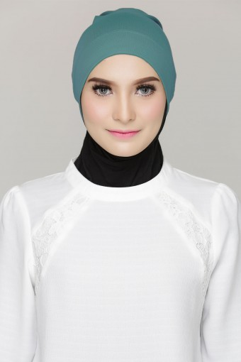 Rania inner Cap in Aqua Green
