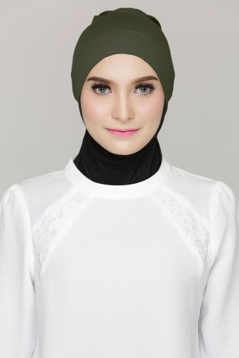 Rania Inner Cap in Olive Green