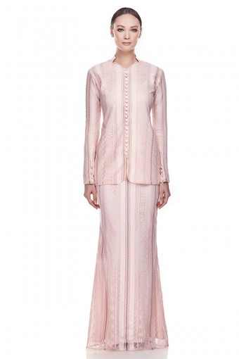Refna Kurung in Soft Pink